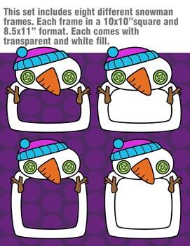 Snowman Frames Clipart