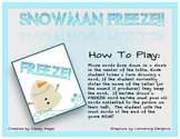 Snowman Freeze- A Letter Sound Game!