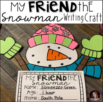 Snowman Friend Writing Craft K-1