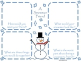 Snowman Friend Writing