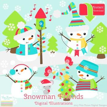Snowman Friends Clip art