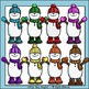 Snowman Friends Multi-Colored Clip Art Set - Chirp Graphics