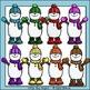 Multi-Color Snowman Clip Art Set - Chirp Graphics
