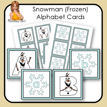 Snowman (Frozen) Alphabet Cards
