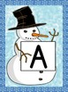 Snowman Full Page Alphabet Letter Posters Uppercase and Lowercase