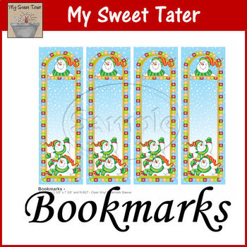 Snowman Fun Bookmarks Printable