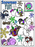 Snowman Clipart (8 FREE Elements Includes) Embellish Yours