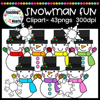 Snowman Fun Clipart