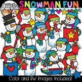 Snowman Fun Clipart {Winter Clipart}