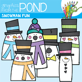 Snowman Fun - Clipart for Teaching Resources