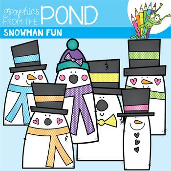 Snowman Fun - Clipart for Teaching Resources