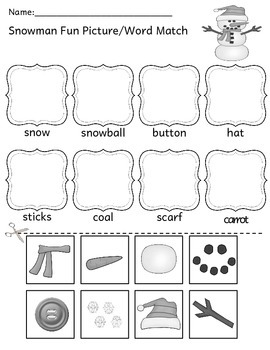 Snowman Fun - Literacy, Math, Writing, Science, and Craft Unit