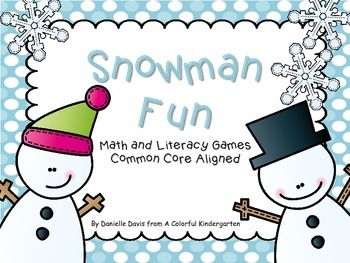 Snowman Fun Math and Literacy Activities