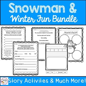 Snowman Activities Bundle