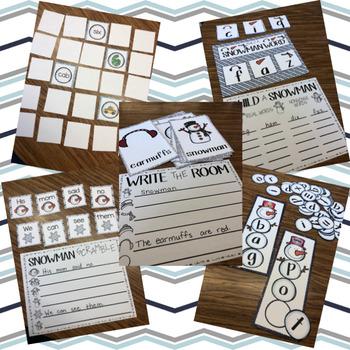 Snowman Fun Math and Literacy Bundle
