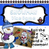 Snowman Game - Roll the dice