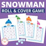 Snowman Game | Snowman Math Activity | Snowman Roll and Cover