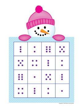 Snowman Game | Snowman Math Activity | Snowman Roll and Cover