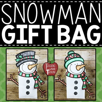 Snowman Gift Bag Toppers