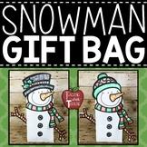 Snowman Gift Bag Topper