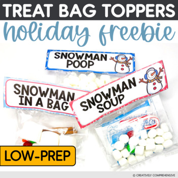 Snowman Gift Bag Toppers | Class Gift for the Holidays