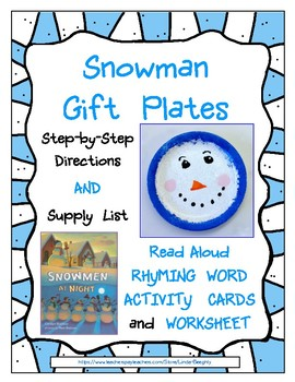 Snowman Gift Plate - Art Lesson with Read-Aloud Rhyming Ac
