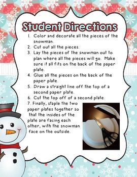 Snowman Gift Wrap Craft FREEBIE!