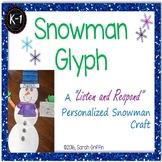 Snowman Glyph - Listen and Respond Craft