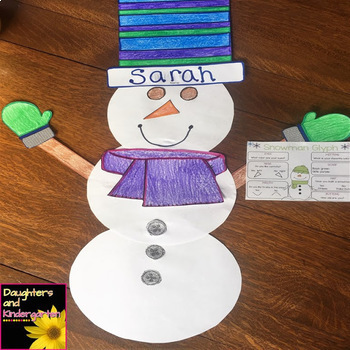 Snowman Glyph - Listen and Respond Craft