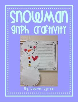 Snowman Glyph Craftivity!