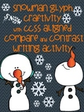 Snowman Glyph Craftivity with Compare & Contrast Writing Activity