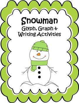 Snowman Glyph, Graph & Writing Activities