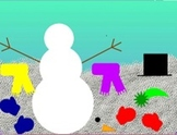 Snowman Glyph Interactive Whiteboard Activity