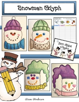 Winter: Snowman Activities: Listening & Following Directions Glyph With Graphs