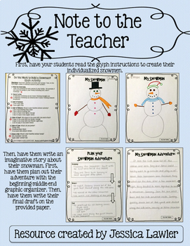 free snowman glyph winter writing activities tpt. Black Bedroom Furniture Sets. Home Design Ideas