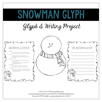 Snowman Glyph & Writing Project