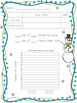 Snowman Glyph with Survey, Craft, Data Sheet, and Writing Prompt