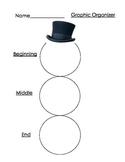 Snowman Graphic Organizer- Beginning, Middle, End