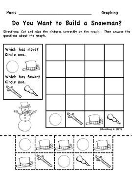 Winter Snowman Graphing (Picture Graph) Kindergarten & 1st Grade
