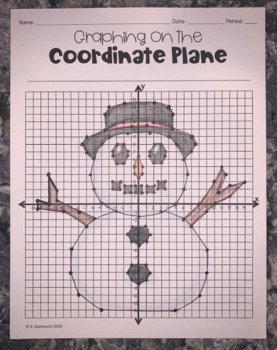 Snowman (Graphing on the Coordinate Plane Mystery Picture)