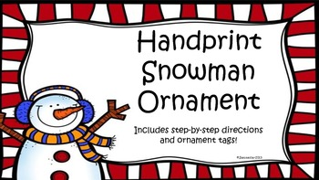 Snowman Handprint Ornament Poem