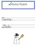 Snowman Handwriting Worksheets MODERN MANUSCRIPT CURSIVE
