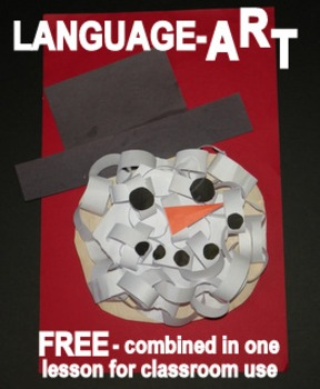 "Snowman Head ""LanguageART"" Craftivity-FREE"