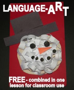 "Snowman Head ""LanguageART"" Craftivity-FREE"