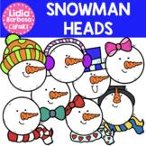 Snowman Heads Clipart