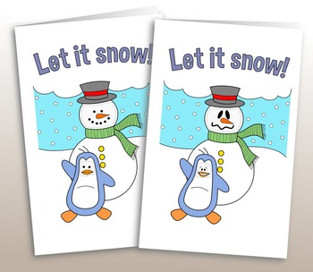 Snowman Christmas/Holiday Card with Changing Faces