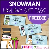 Snowman Holiday Gift Tags {Printable FREEBIE!}