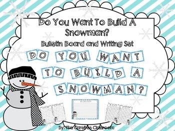 Bulletin Board Set: Snowman How To Writing