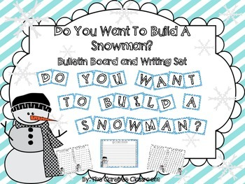 Bulletin Board Set: Snowman How To Writing