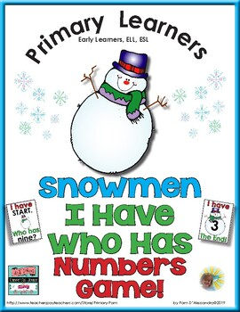 Number Words and Numerals - I Have Who Has Numbers Game